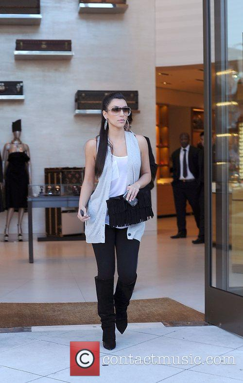Kim Kardashian and her mother Kris Jenner leaving the Louis Vuitton store in Beverly Hills 5