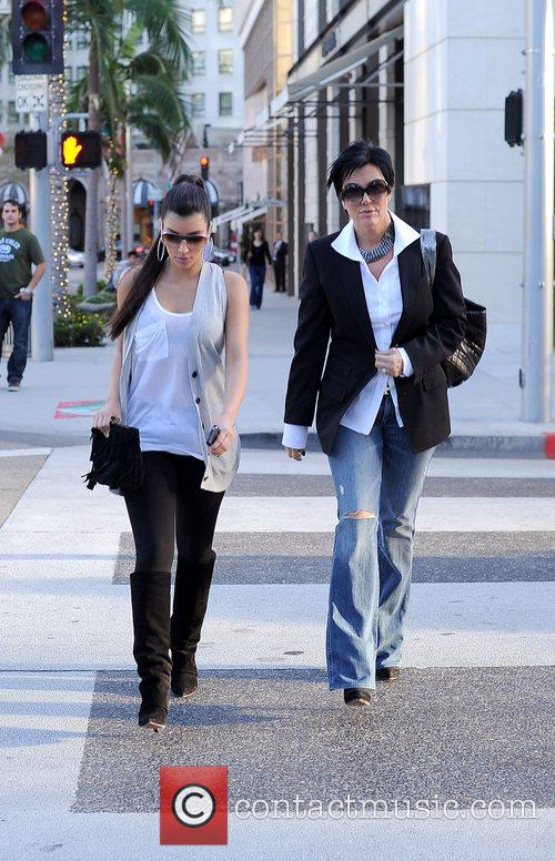 Kim Kardashian and her mother Kris Jenner leaving the Louis Vuitton store in Beverly Hills 4