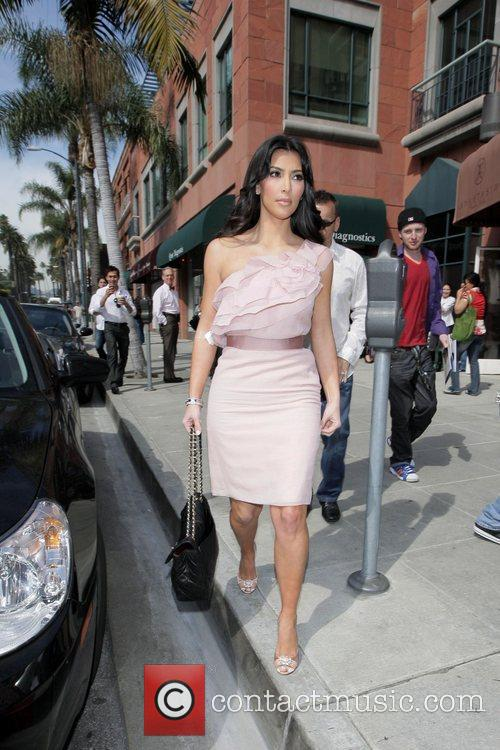 Kim Kardashian  arrives at Beverly Hills Nail...
