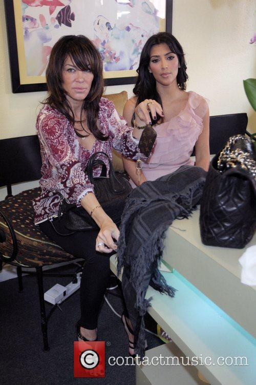 Kim Kardashian with Pussycat Dolls founder Robin Antin...