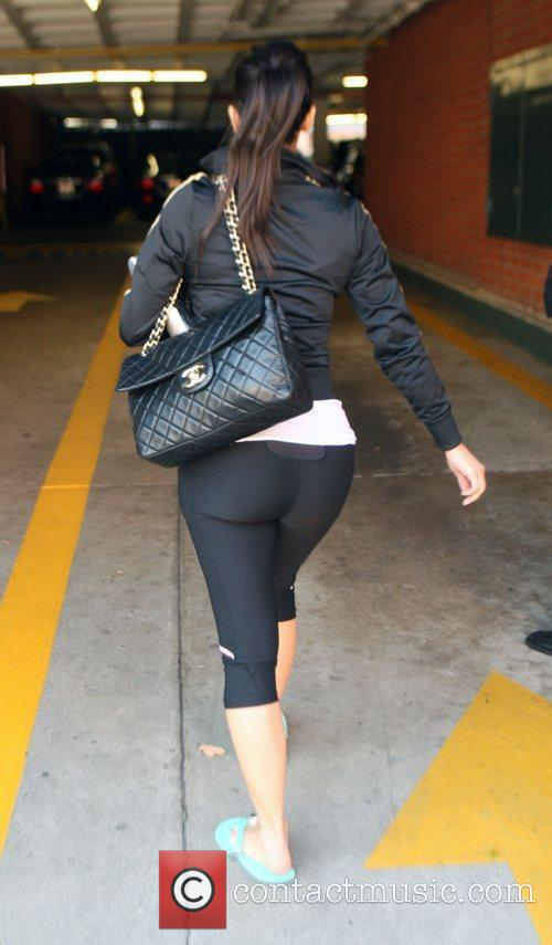 Kim Kardashian leaves a nail salon
