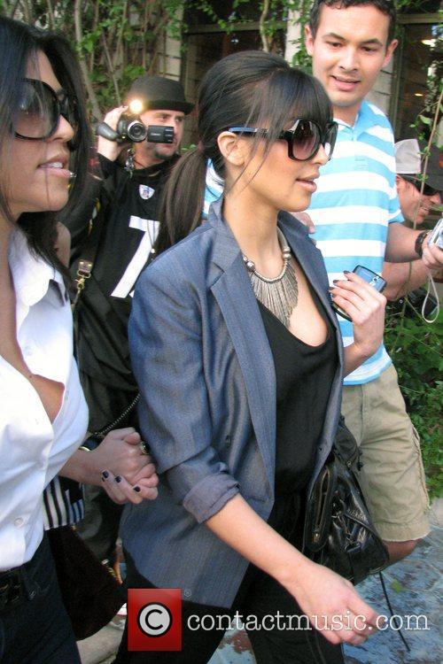 Kim Kardashian and Kourtney Kardashian go shopping at Chanel boutique on Robertson Boulevard 4