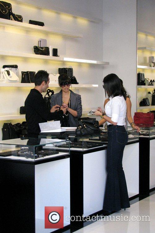 Kim Kardashian and Kourtney Kardashian Go Shopping At Chanel Boutique On Robertson Boulevard 5