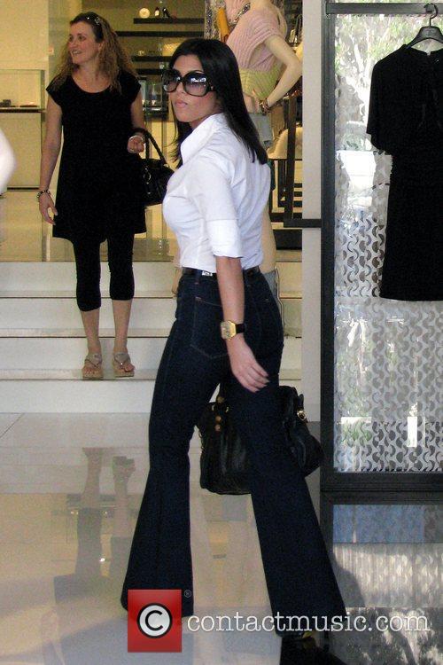 Kourtney Kardashian goes shopping at Chanel boutique on...