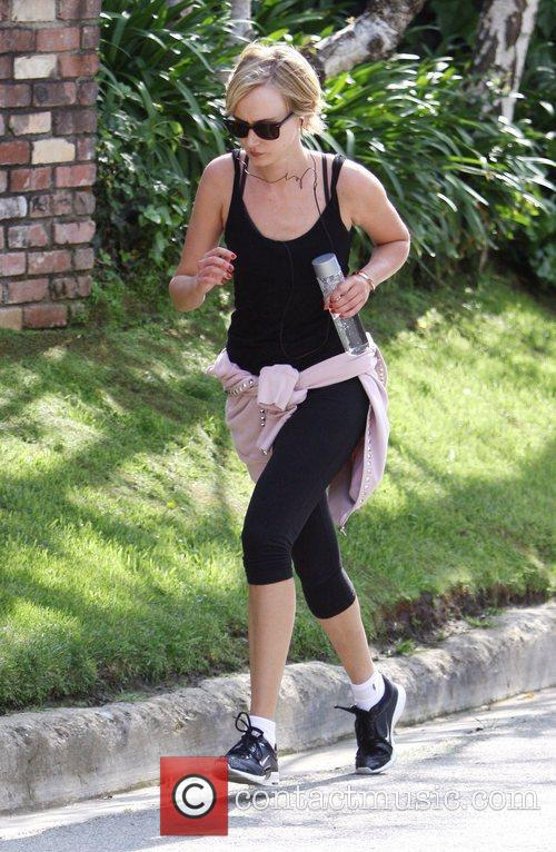 Kimberly Stewart out jogging in Beverly Hills
