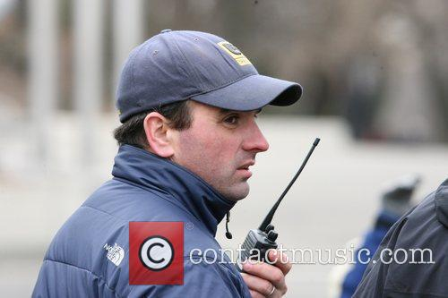 Director on the set of 'Kings' filming in...