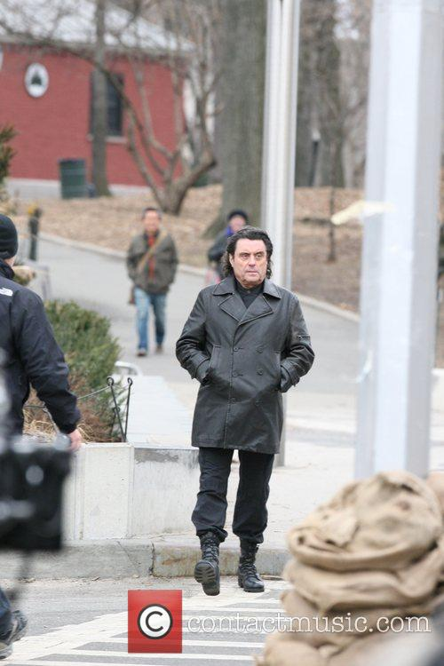 On the set of 'Kings' filming in Brooklyn