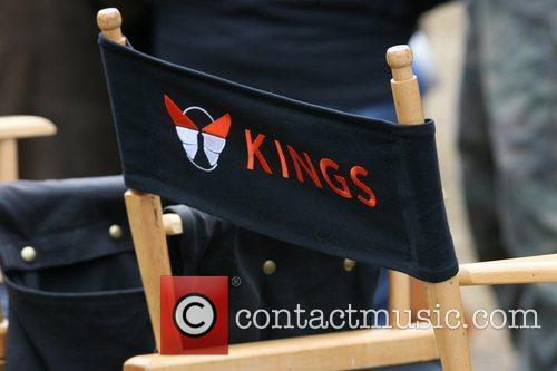 The set of 'Kings' filming in Brooklyn New...