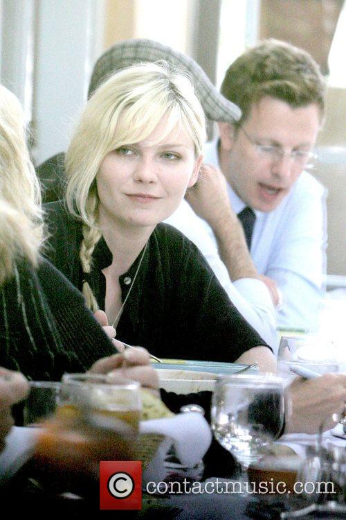 Kirsten Dunst eating lunch at Orso In West...
