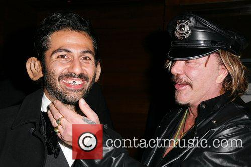 Mickey Rourke and guest Heidi Klum's Halloween Party...