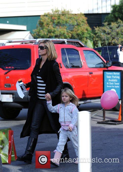 Heidi Klum and daughter Leni leaving The Grove...