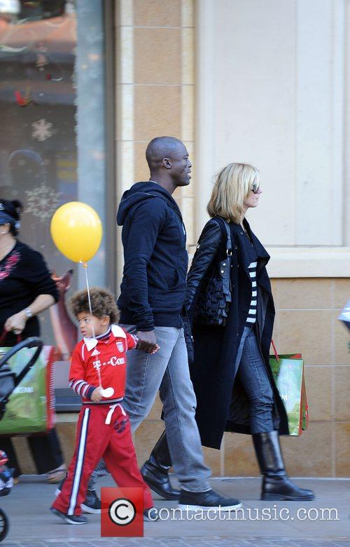 Heidi Klum, husband Seal with their son Johan...
