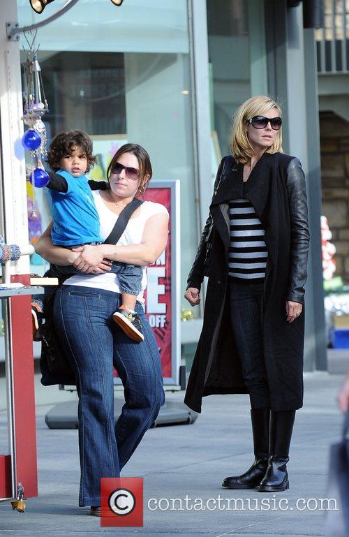 Heidi Klum and son Henry leaving The Grove...