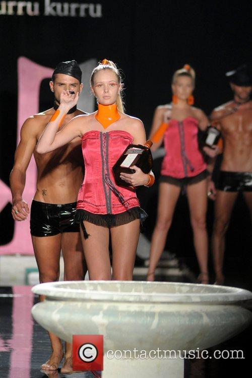 Model Kurru Kurru fashion show during Funkshion Fashion...