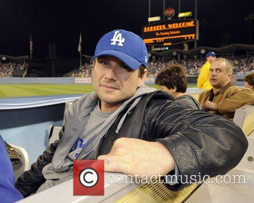 Christian Slater attended Sunday's Los Angeles Dodgers-San Diego...