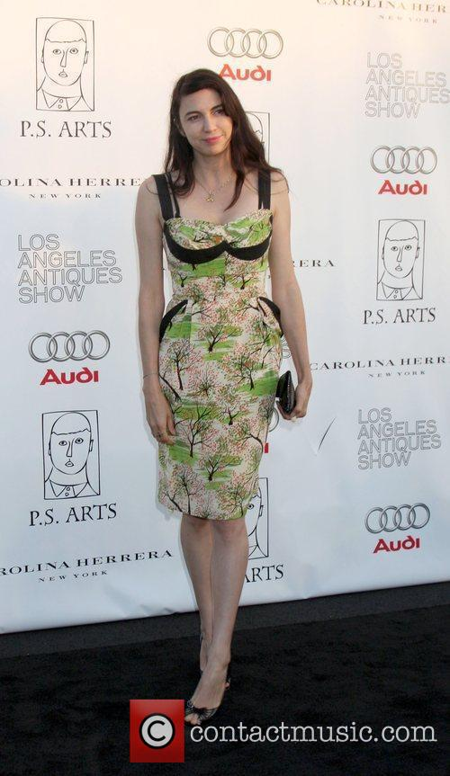 Arriving at the 14th Annual Los Angeles Antiques...