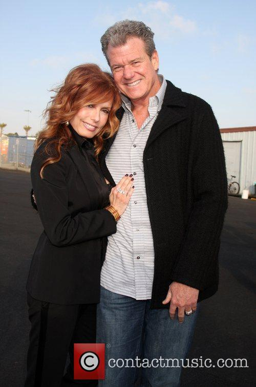Tracey Bregman and husband Ron Recht  arriving...