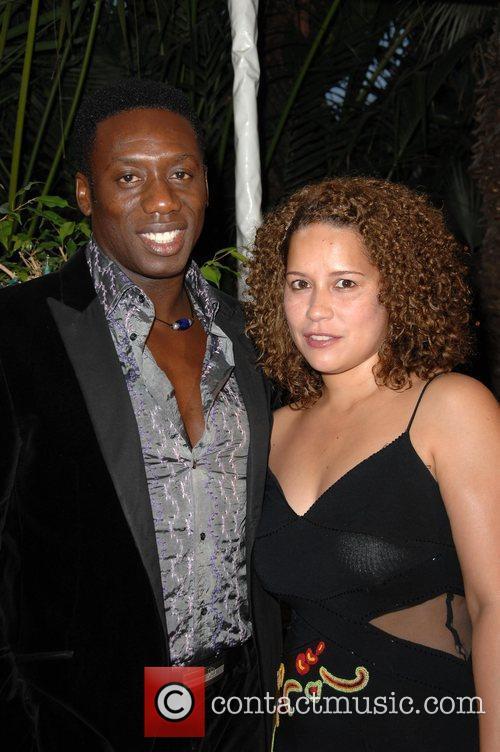 Hakeem Kae-Kazim and guest Los Angeles BritWeek 2009...