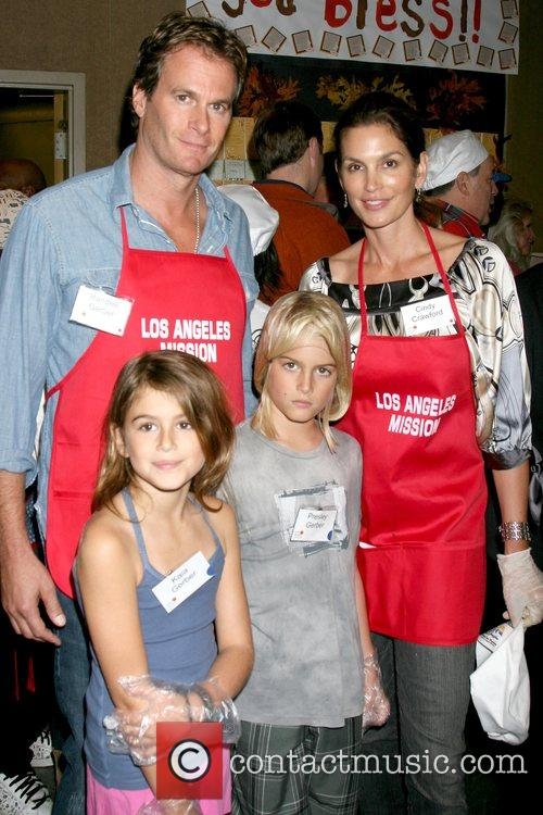 Rande Gerber, Cindy Crawford, Kaia Gerber and Presley...