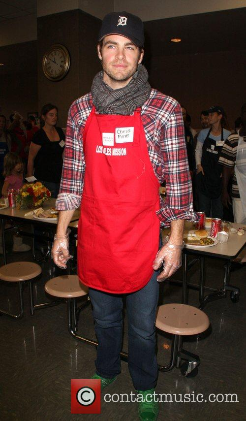 Chris Pine LA Mission and Anne Douglas Center's...