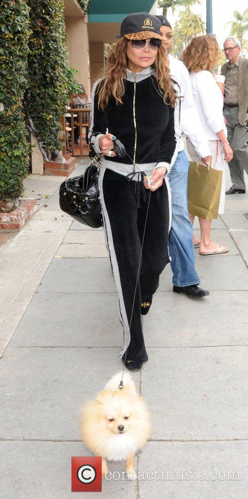 La Toya Jackson out shopping with her dog...