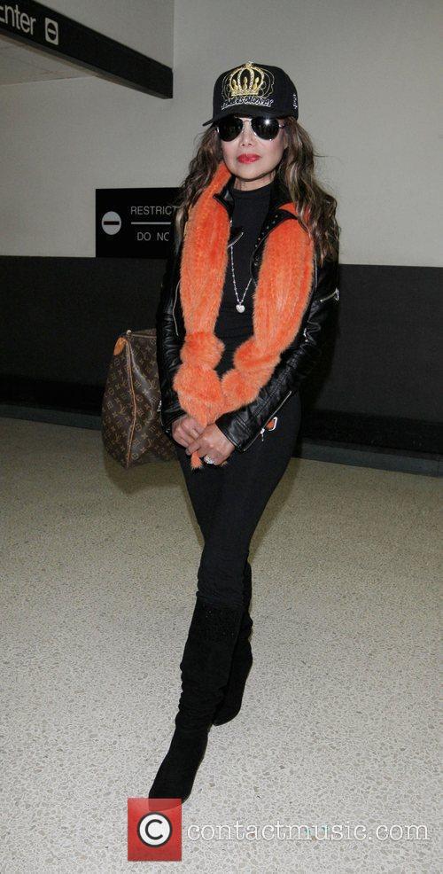 La Toya Jackson arriving at LAX on a...