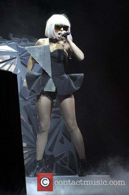 Lady Gaga performing at the Wiltern