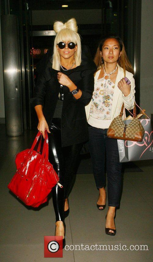 Joanne Stefani Germanotta aka Lady GaGa leaving the...