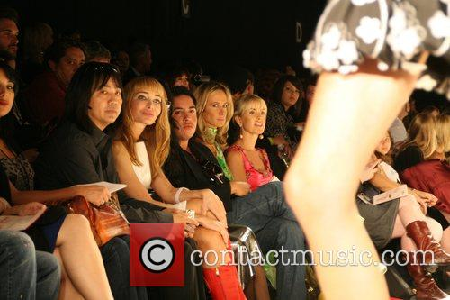 Lady Victoria Hervey and guest Mercedes-Benz LA Fashion...