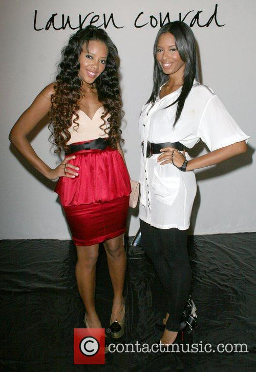 Vanessa Simmons and Angela Simmons Mercedes-Benz LA Fashion...