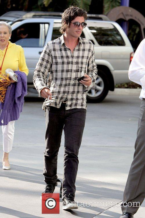 Celebrities arrive to watch the Los Angeles Lakers...