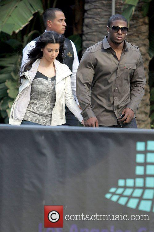 Kim Kardashian, Reggie Bush, Staples Center