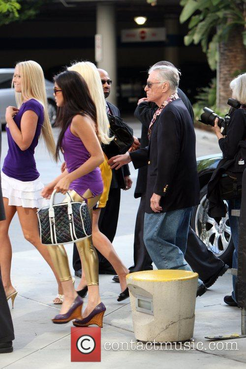 Hugh Hefner and Playmates 2