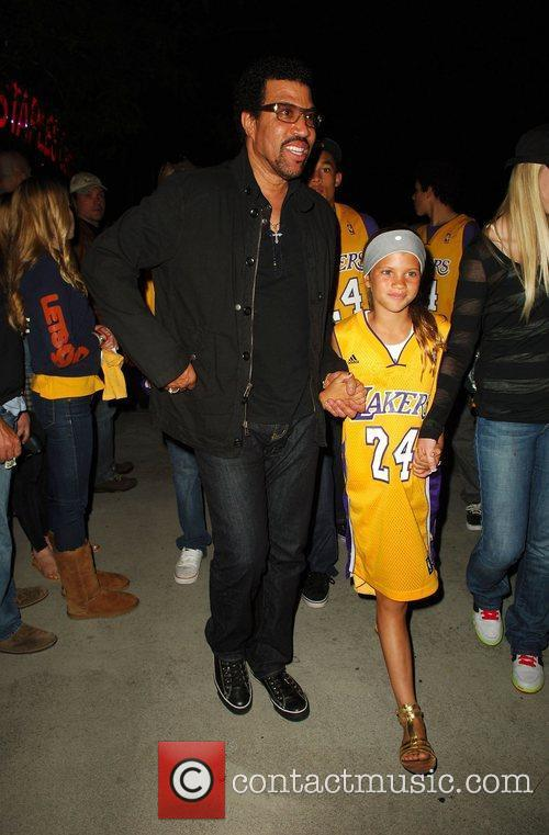 Lionel Richie with his daughter Sofia Richie leaving...