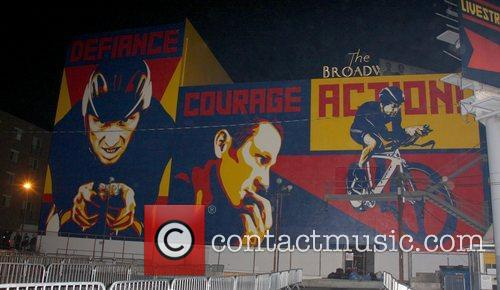 Mural Lance Armstrong and Nike Sportswear launch 'Stages'...