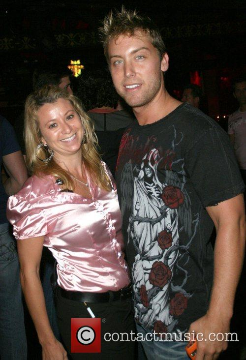 Lance Bass celebrates his birthday with friends at...
