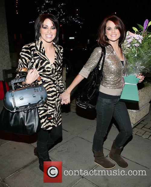 Sharon Condon and Corrina Durran leaving RTE studios...