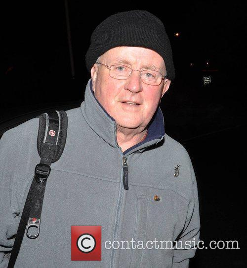 Christy Moore outside RTE studios for 'The Late...