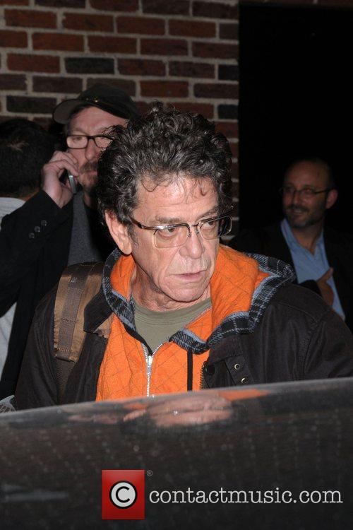 Lou Reed leaving the Late Show with David...