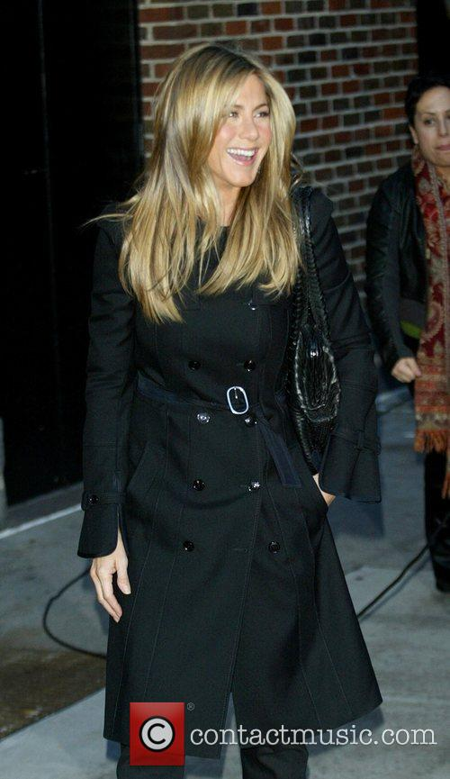 Jennifer Aniston and David Letterman 6