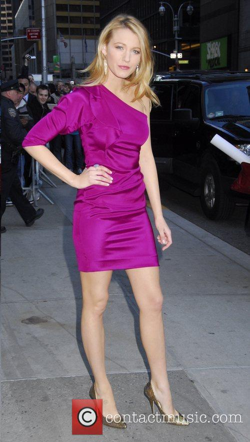 Blake Lively and David Letterman 2