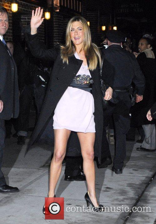 Jennifer Aniston and David Letterman 1