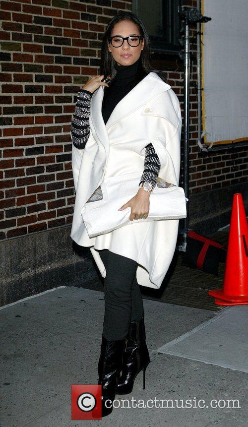 Alicia Keys and David Letterman 17