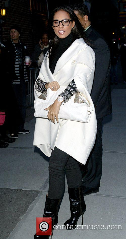 Alicia Keys and David Letterman 15