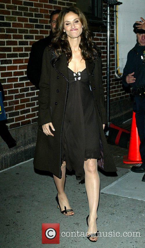 Amy Brenneman and David Letterman 4