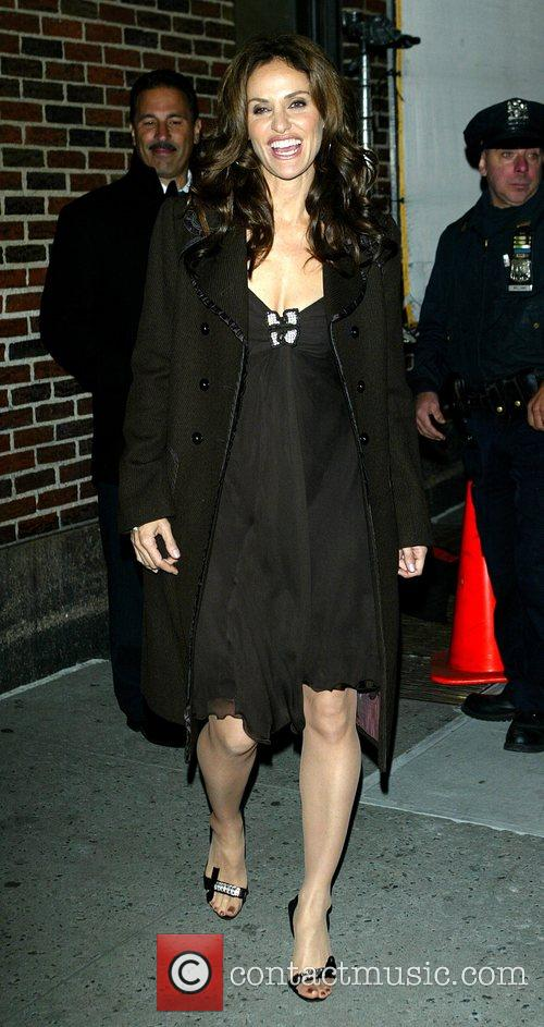 Amy Brenneman and David Letterman 3