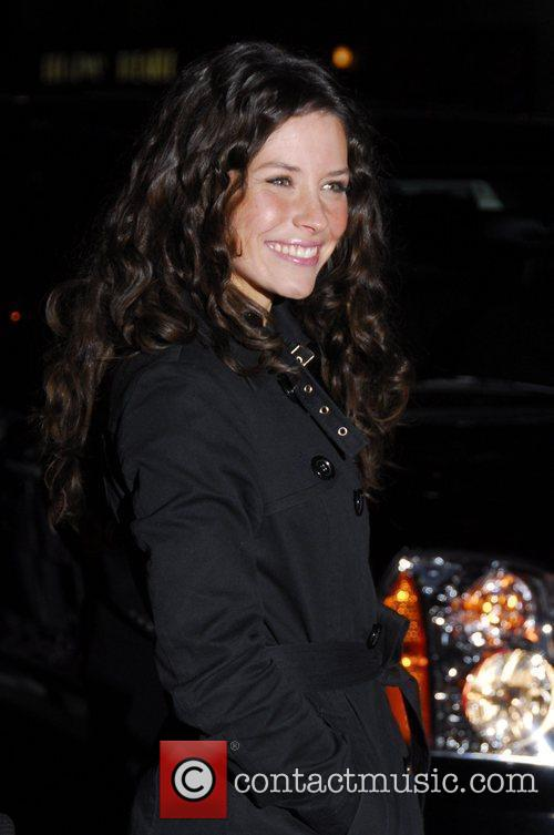 Evangeline Lilly and David Letterman 2