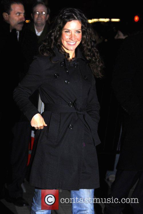 Evangeline Lilly and David Letterman 6