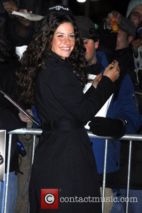 Evangeline Lilly and David Letterman 1