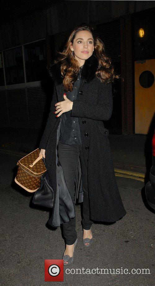 Kelly Brook Celebrities at L'Atelier restaurant London, England